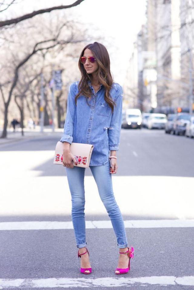Jeans blouse!!