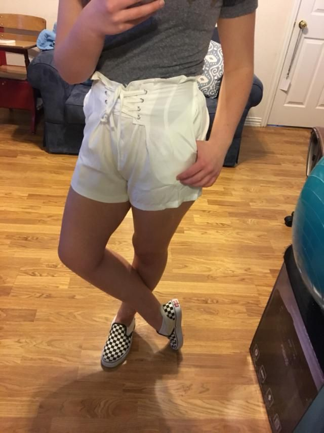 "These are so adorable! I'm 5'7"" and 140 pounds and the medium fit well. The only problem is that they are super see th…"