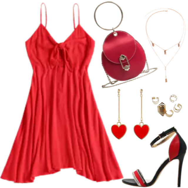 Red dress, color of love, passion and romantic, perfekt for nights outfits and romantic dinner
