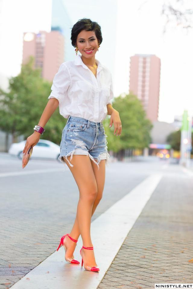 Denim Distressed Cutoffs Shorts
