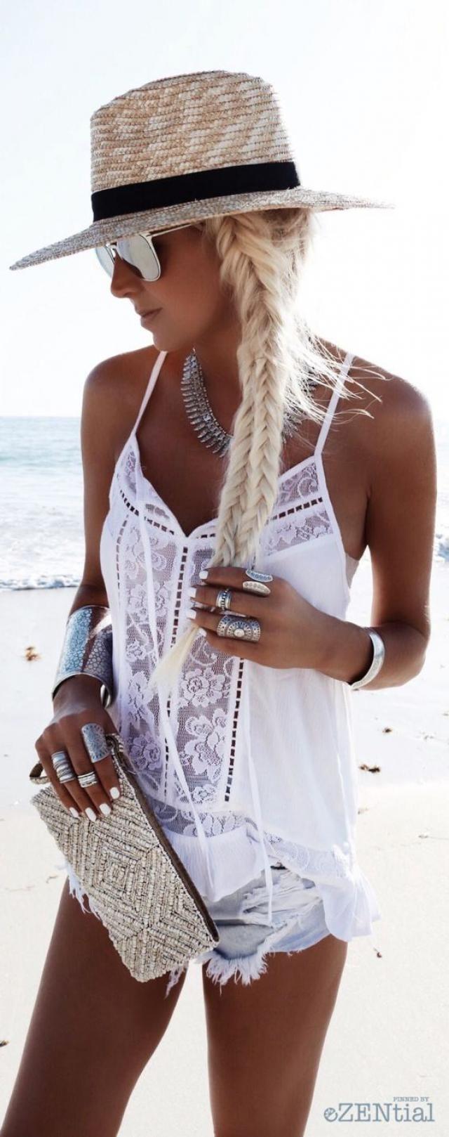 White Trendy Summer Top...