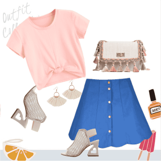Lovely summer outfit with beautiful colors!