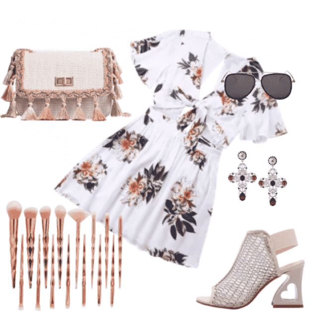 Floral dress for beach and summer,casual and night out