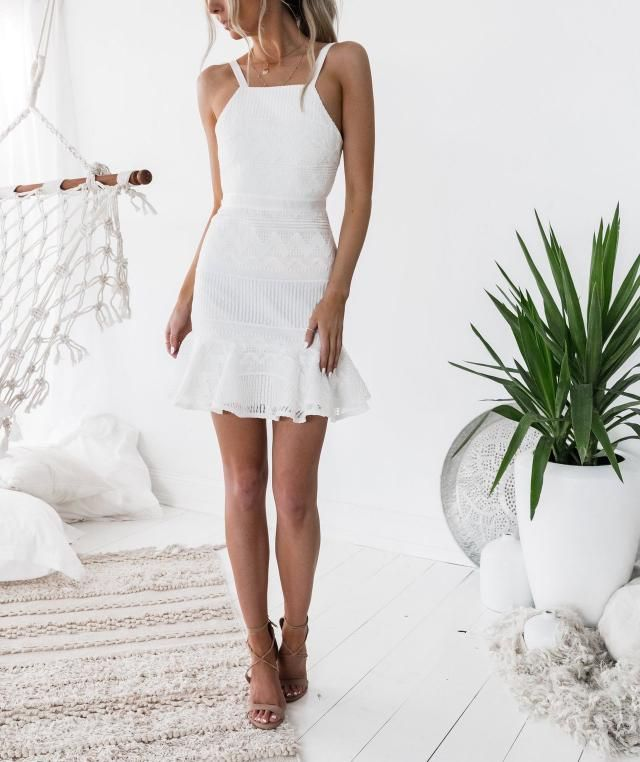 Nice white dress in Zaful