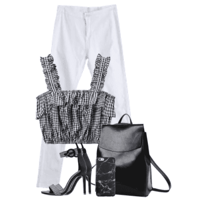 Beautiful black and white look - stylish and feminine