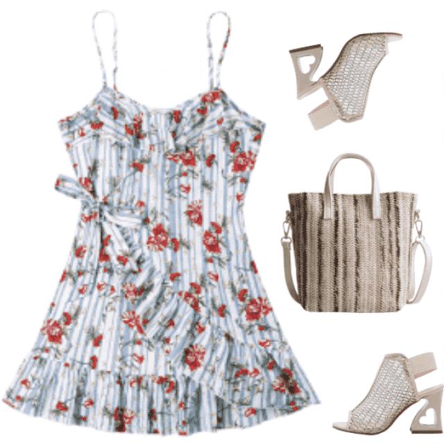Amazing floral  boho dress