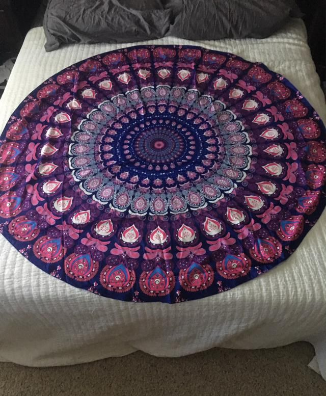 As described! Cute throw for my queen bed I love it!  Can't wait to take it to the beach