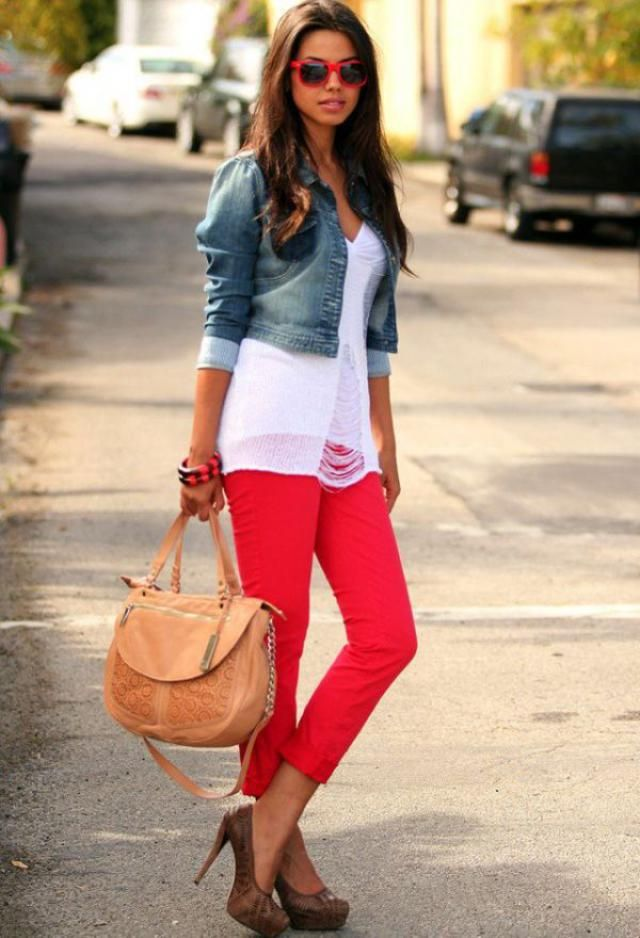 Loose Ripped V Neck Sweater...