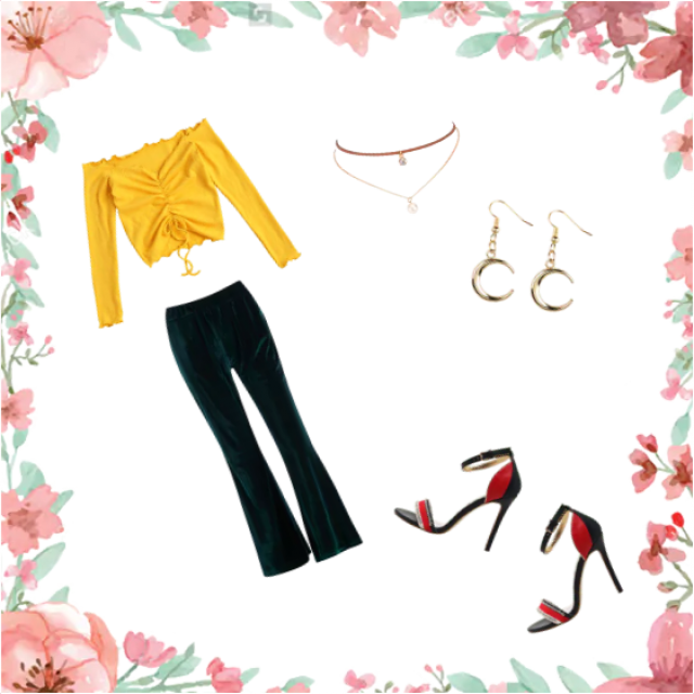 A perfect summer day outfit, with a pop of colour.