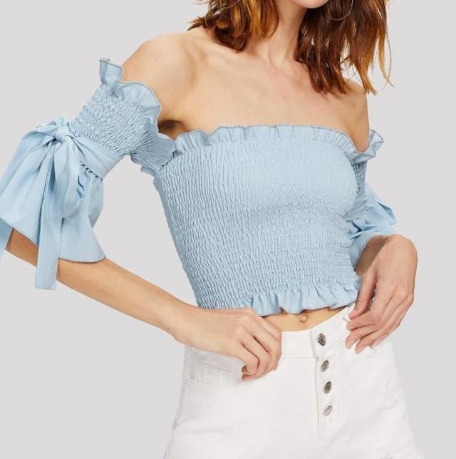 Nice blue blousses in Zaful colection