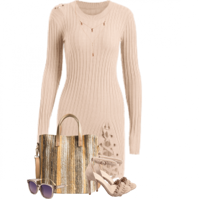 Chic and comfortable knitted dress
