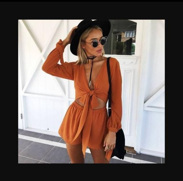 Tied front top and Shorts Set - OUTFIT