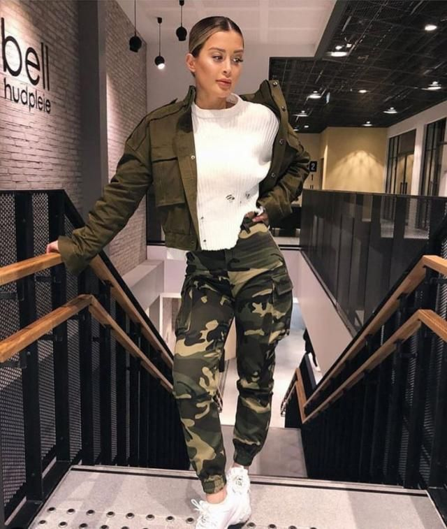 Olive green brings military chic to streetwear