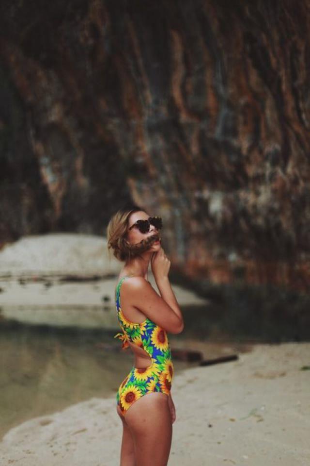 Cami Strap Sunflower Bikini