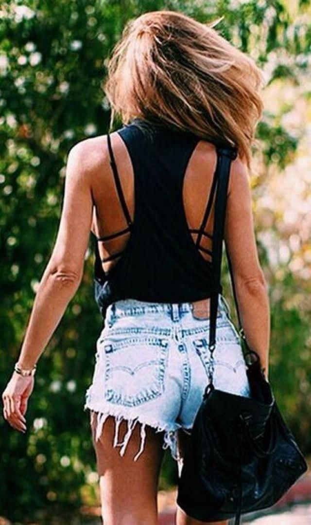 Cropped Scalloped Tank Top