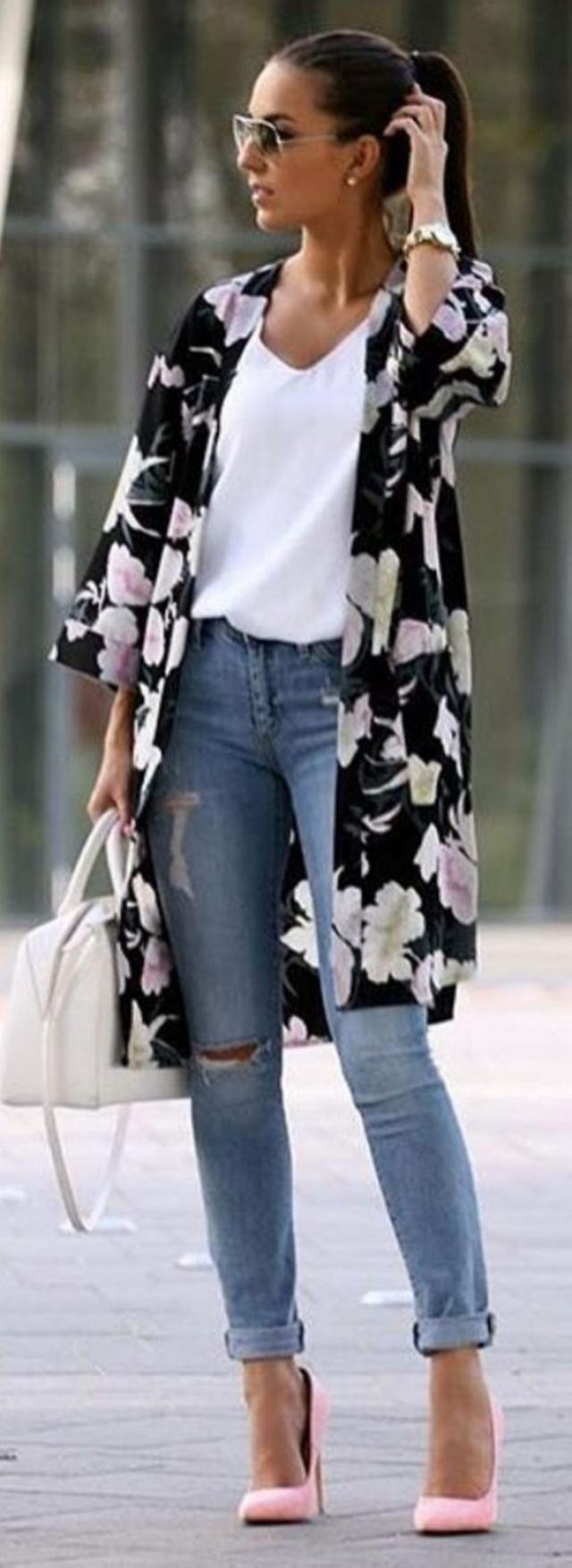 Pajamas Peony Print Kimono