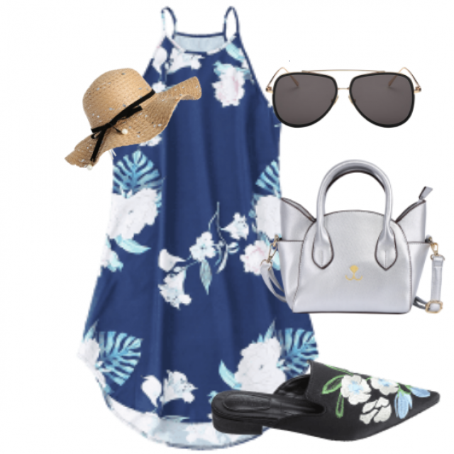 Dress for beach and summer
