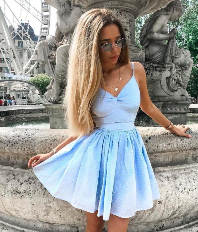 Pretty Summer Blue Dress