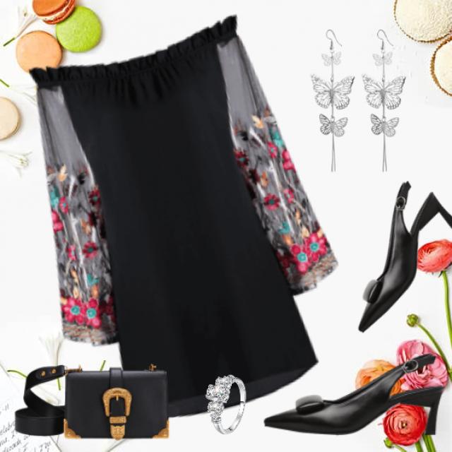 #       Little black dress for evening ocasion