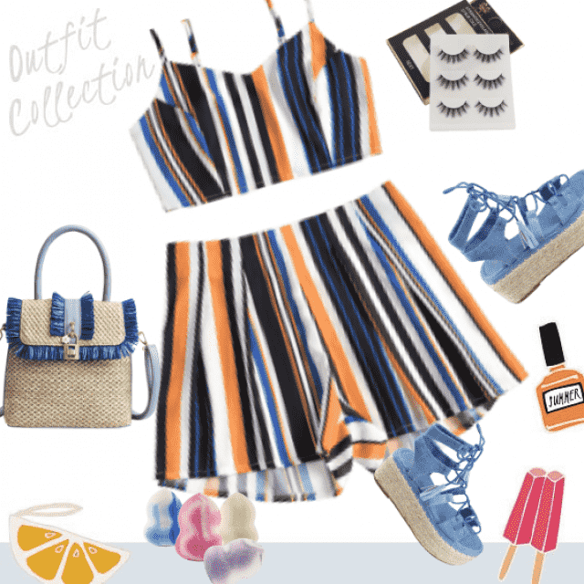 Print outfit for beach vacation!