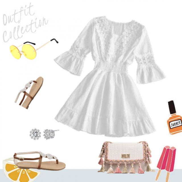 Shine bright like a diamond with Zaful white dress!