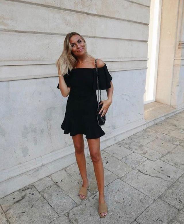 Enjoy life in adorable little black dress from Zaful