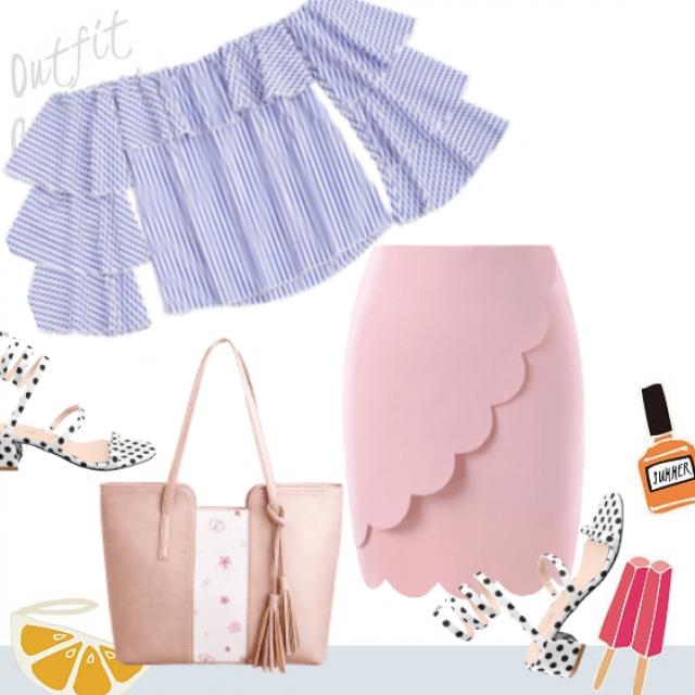 Stylish pastel outfit