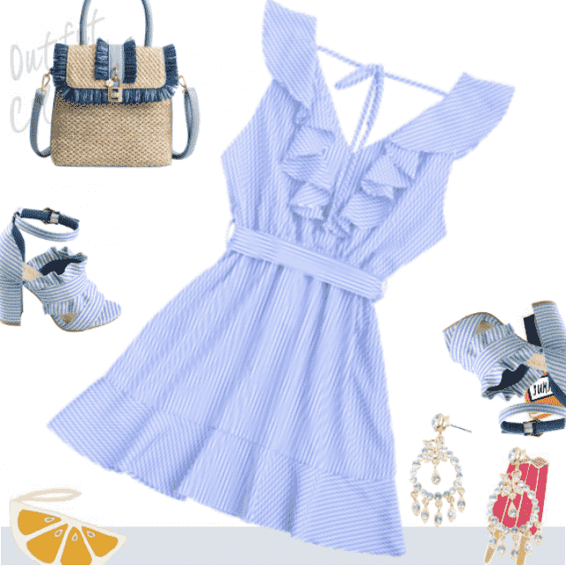 Girly style! Fashion look for sunny days!