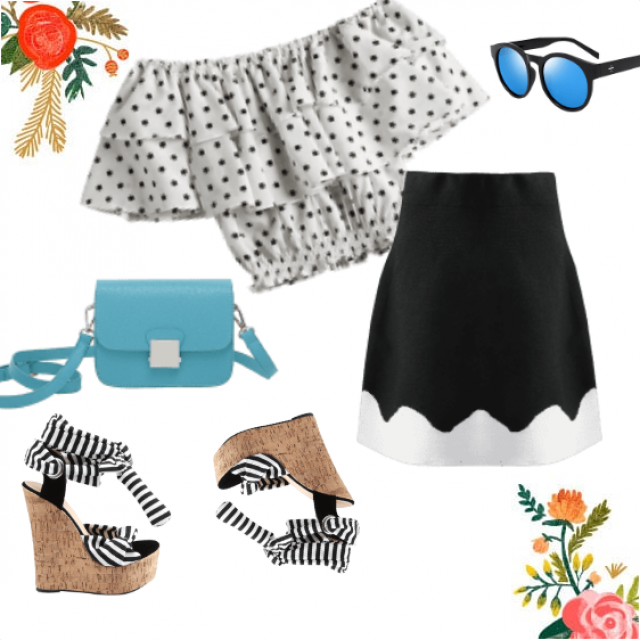 Stylish outfit in black and white!
