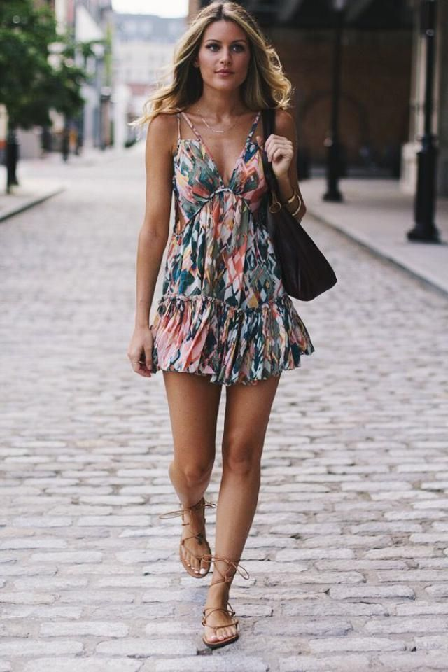 Floral Print Buttoned Cami Dress
