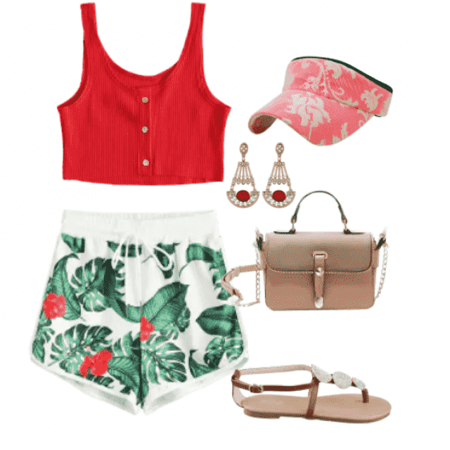 Cute outfit for beach and summer