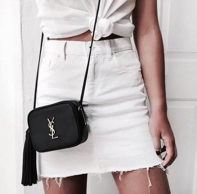 So in love with this white denim skirt!!!!♥♥♥
