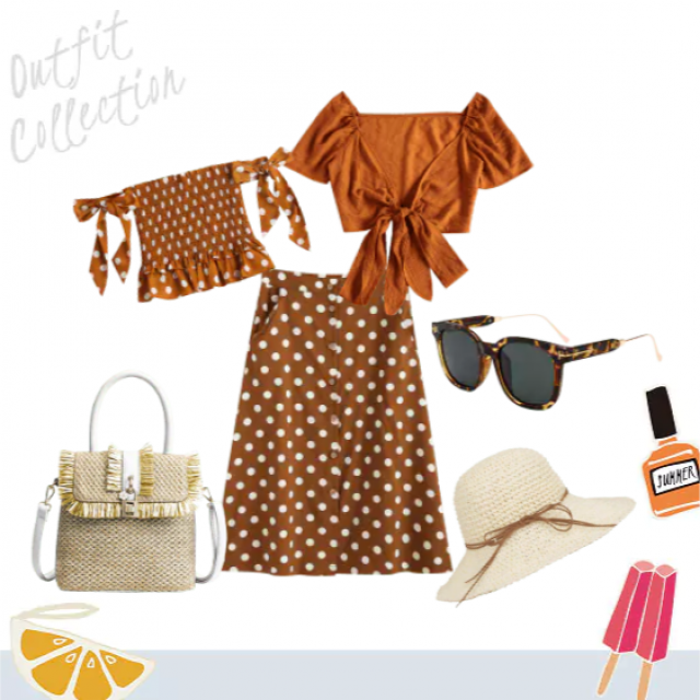 Perfect for a Saturday brunch or the Kentucky Derby this look is fun and fancy for summer time.