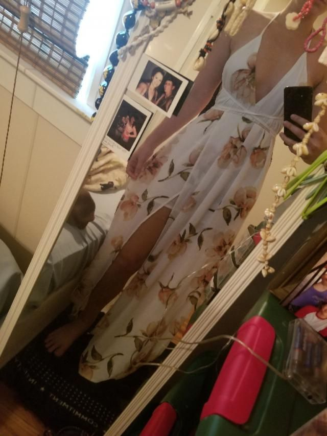 I'm 5'3 120 pounds ordered a small anytime I wear this dress I get compliments all day! Super cute  Fits well  Love it …