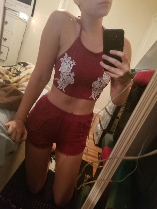 I'm 5'3 120 pounds I order a small  Love it  Fits well  Super cute  Looks exaclty like the pictures   True to size  Com…