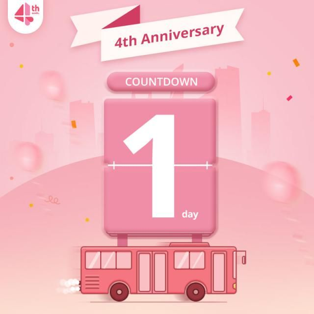 """An amazing time!!! 4th Anniversary !!! Let us count down together.  How to join : Relay """"1"""" in the commen…"""