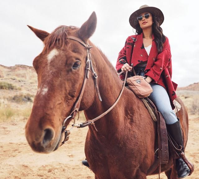 For , being the girl next door comes easy. Who knew she rode horses as well? I love this outdoorsy look as it crosses t…