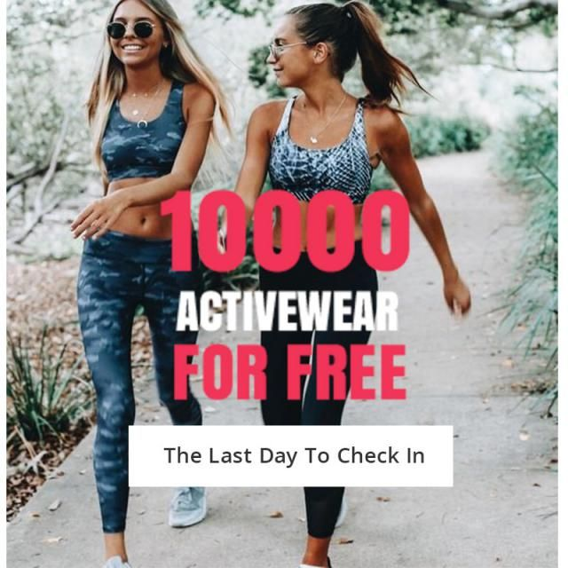 Hurry up, It's the last day to check in! Let's get 10000 activewear for free! When you finish, don't forget to reply…