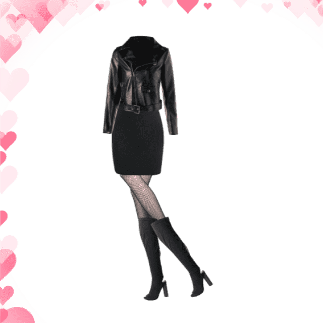 Evynne Labeau wears all black on date night              #