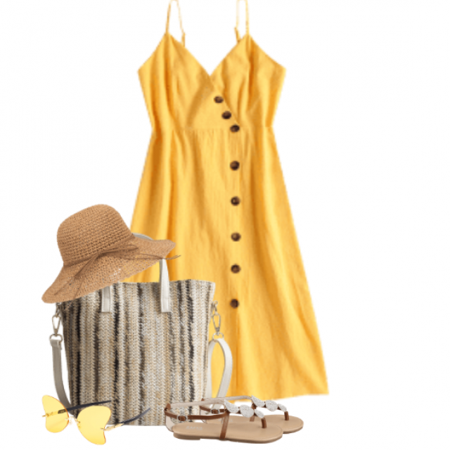 So cute yellow dress - perfect to wear on the beach or a summerparty