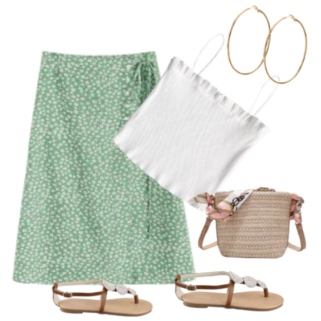 Skirt A lines modern and romantic