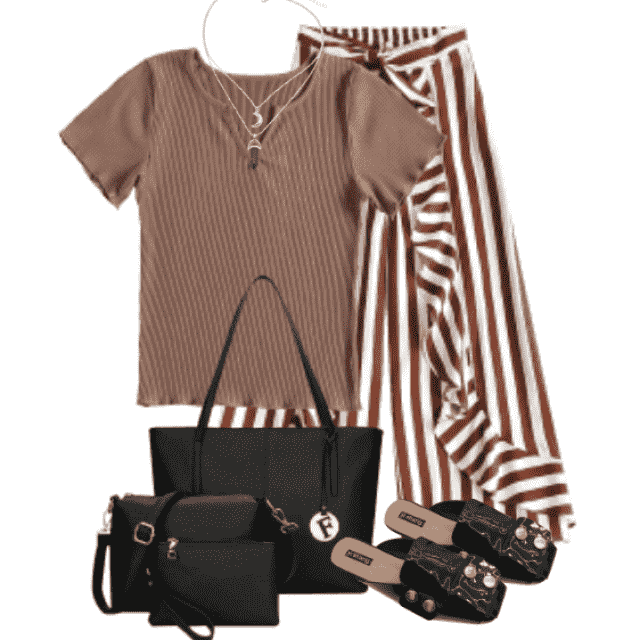 Beautiful combo with striped pants and a shirt