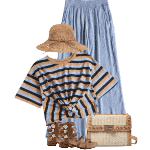 So lovely and cozy style - perfect match with the blue pants and striped top
