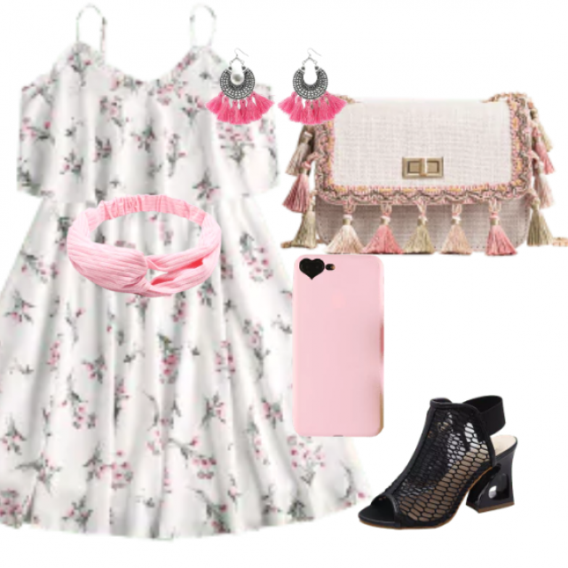 Prety floral dress for all occasions    jewelry