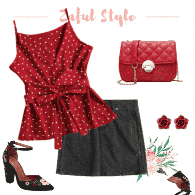 Fancy summer look, red and black!