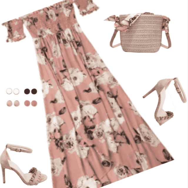 Fabulous summer print dress! Love this look!