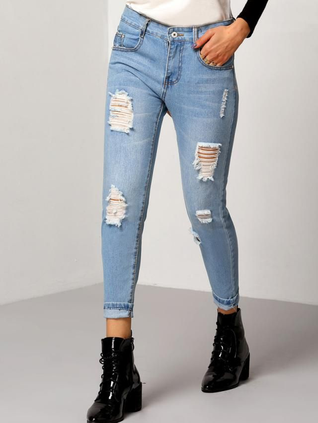 Its my firm belief that every girl has a pair of these skinny jeans but if YOU don't, zaful has the perfect one for you…