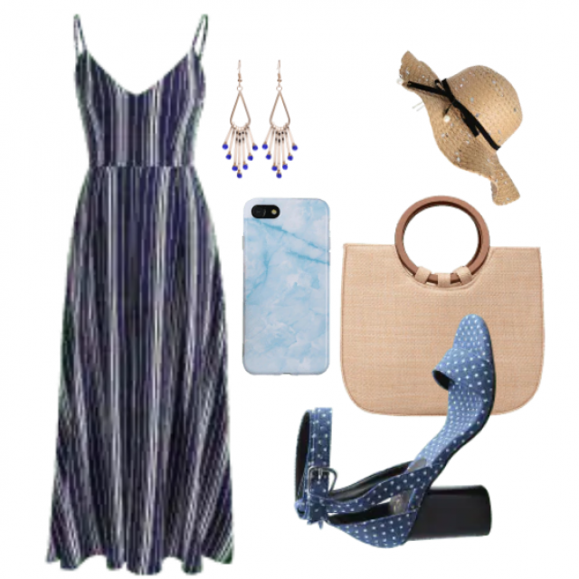 Fabulous dress and bag with strap perfect for beach and summer
