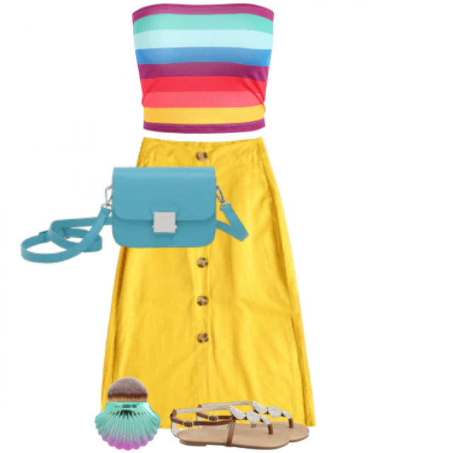 So fresh and beautiful summerlook with the striped top