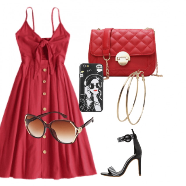 Red dress perfect for summer and going out. It's just so casual yet pretty and will look great with a sleek sandal     …